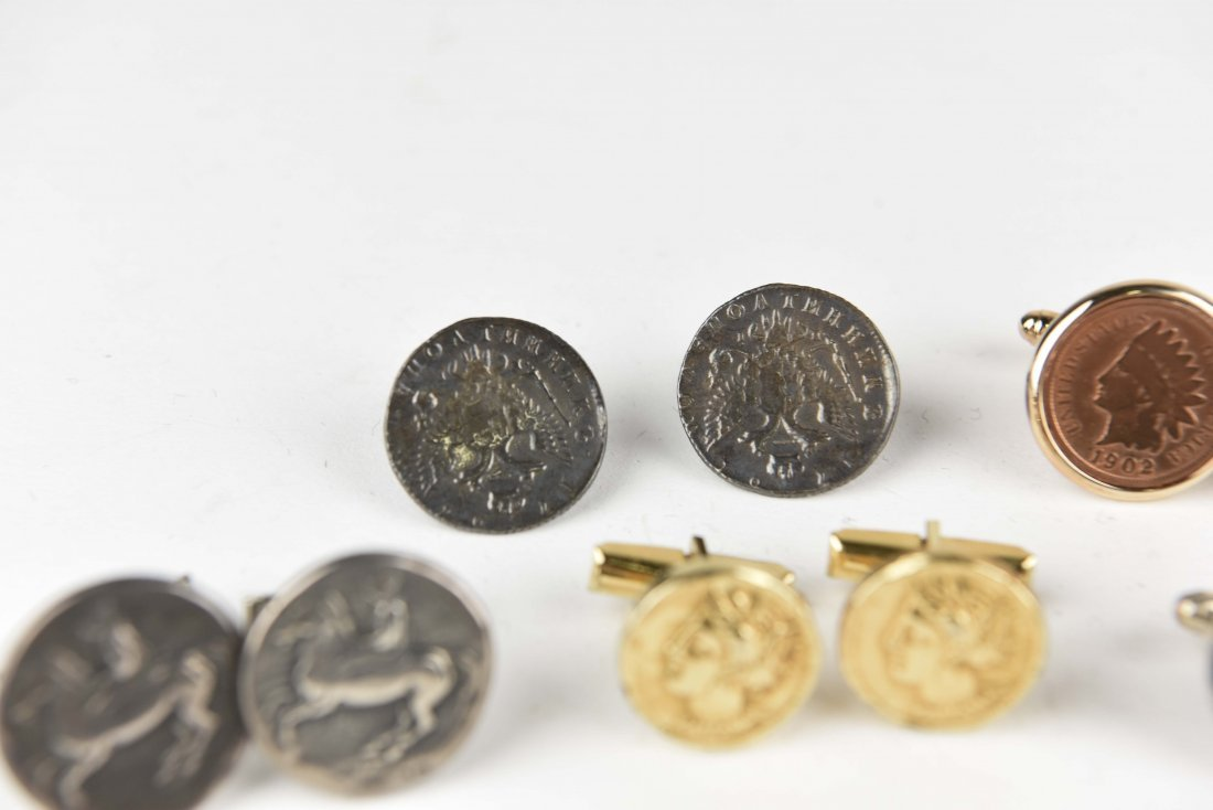 (6) PAIRS OF COIN CUFFLINKS - 6