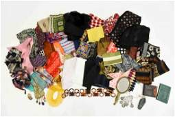 SCARVES & COSTUME JEWELRY GROUPING