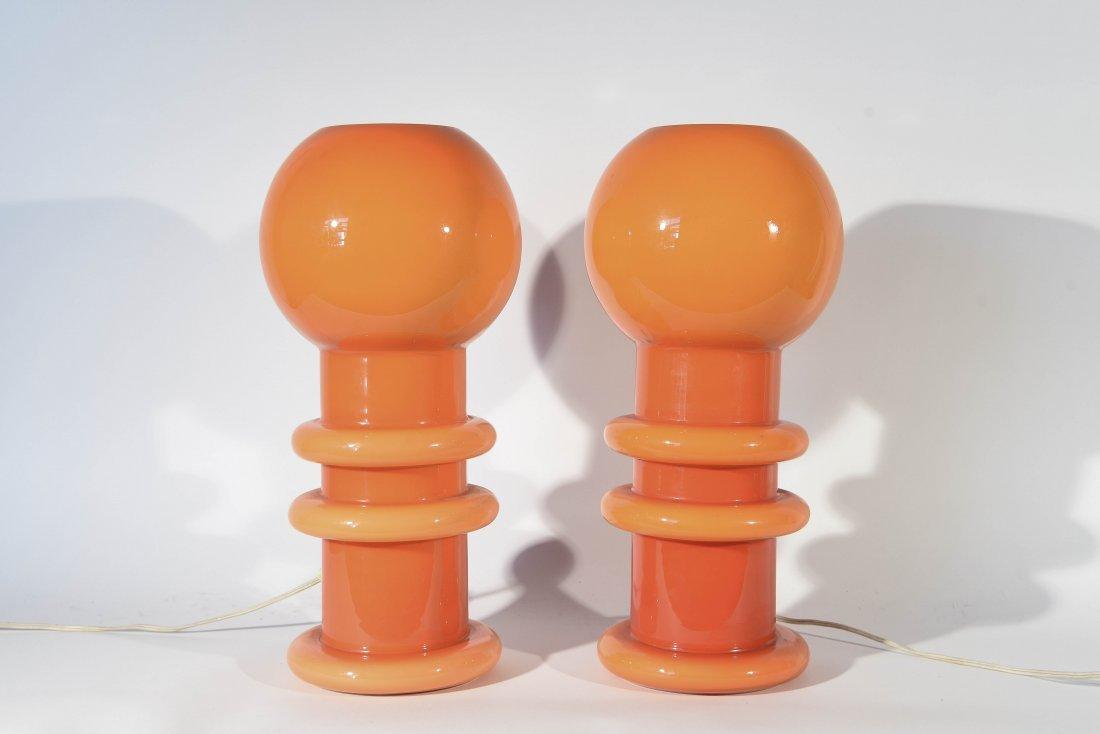 PAIR OF CARLO MORETTI MURANO ITALIA LAMPS