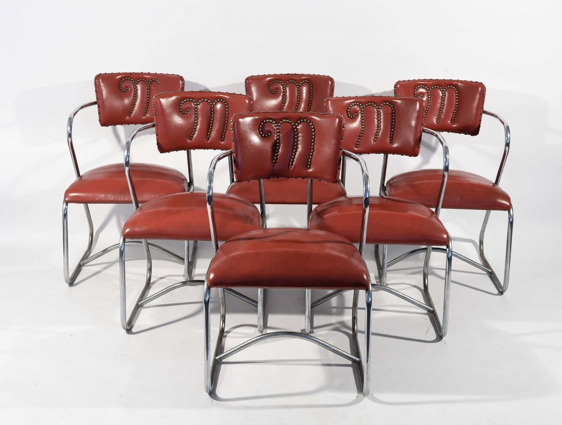ATTR. GILBERT ROHDE (6) DINING CHAIRS