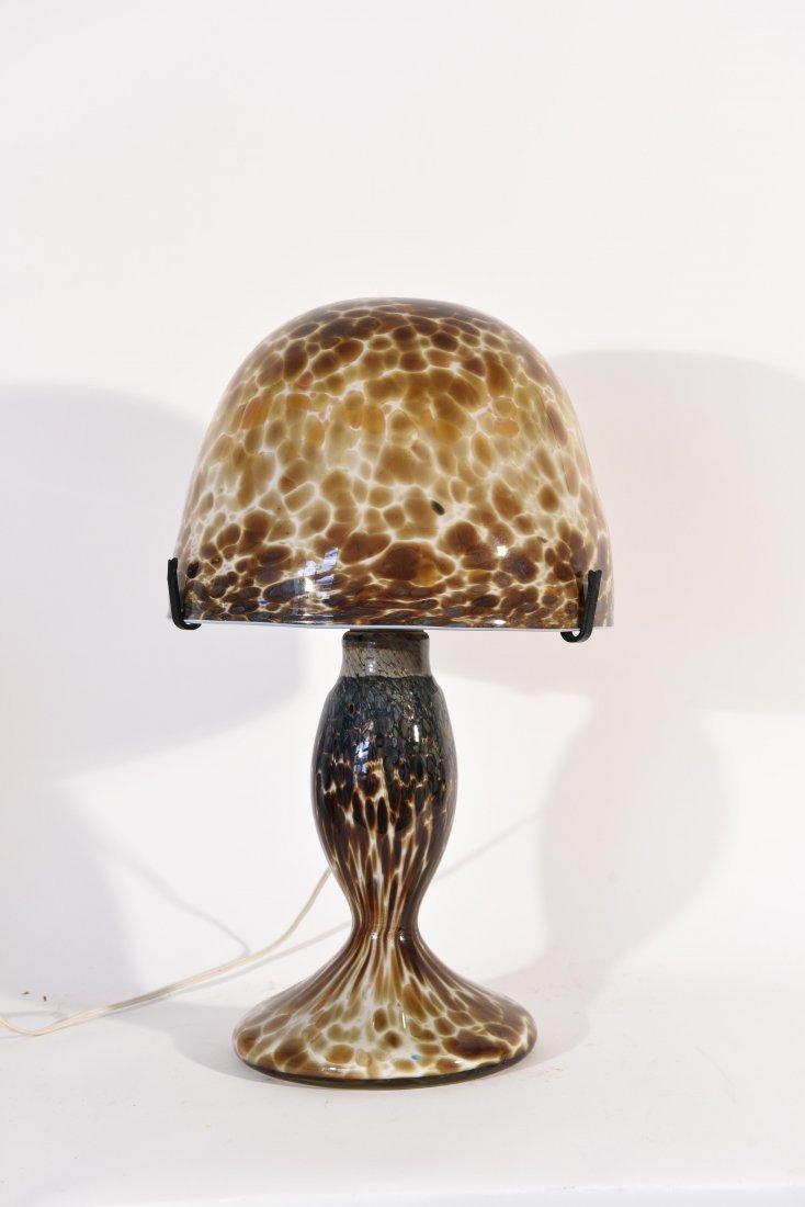 JOHN CLAUDE NOVARO ART GLASS LAMP
