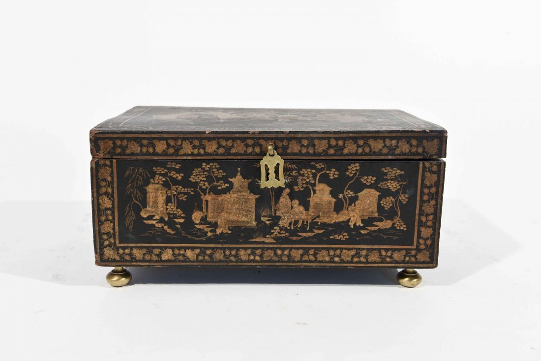 19TH C. CHINESE LACQUER BOX