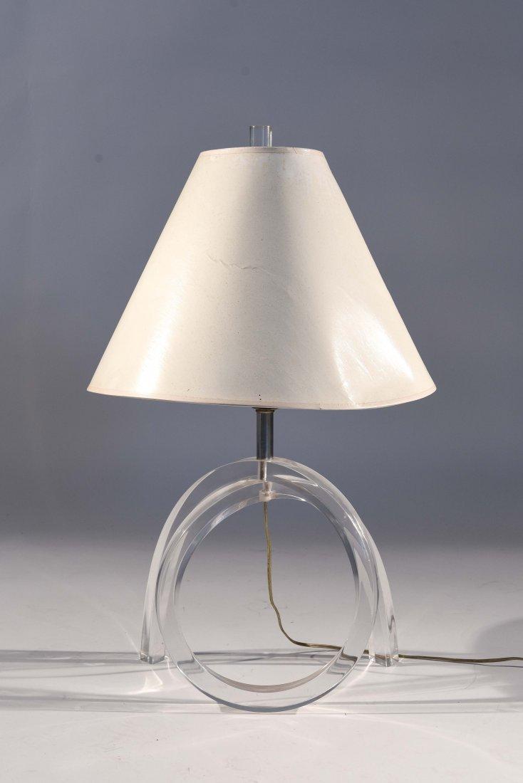 DOROTHY THORPE LUCITE PRETZEL LAMP