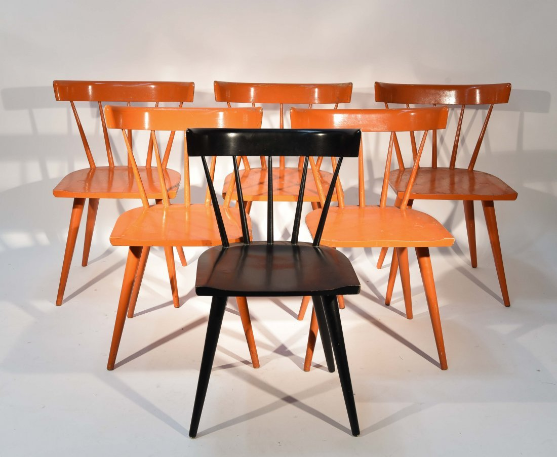 (6) PAUL MCCOBB PLANNER GROUP DINING CHAIRS