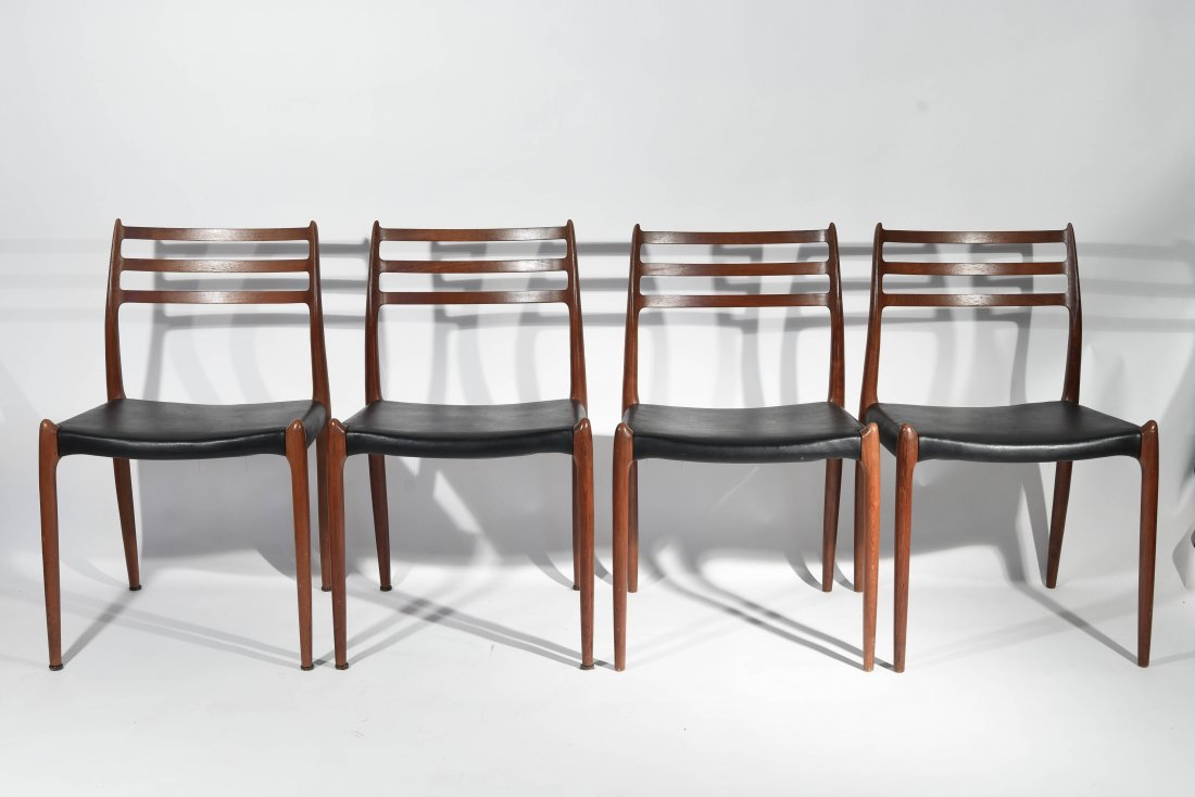 (4) NEILS MOLLER DINING CHAIRS
