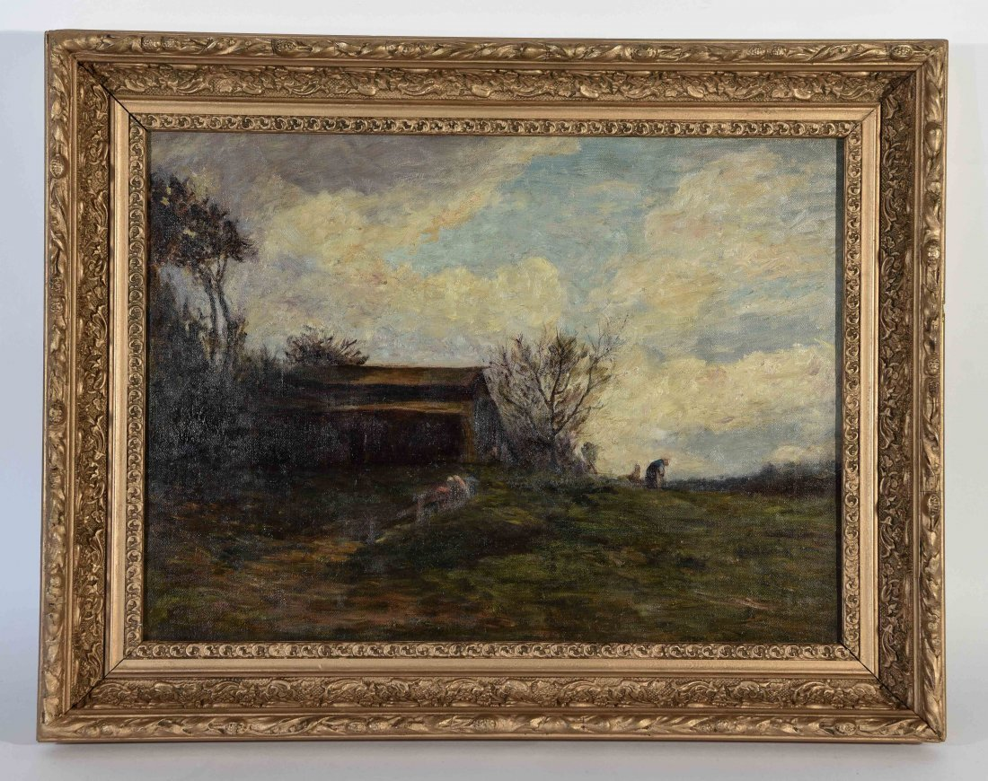 UNSIGNED AMERICAN IMPRESSIONIST O/C PAINTING