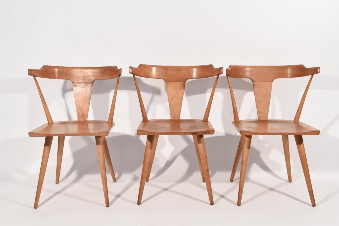 (3) PAUL MCCOBB PLANNER GROUP CHAIRS