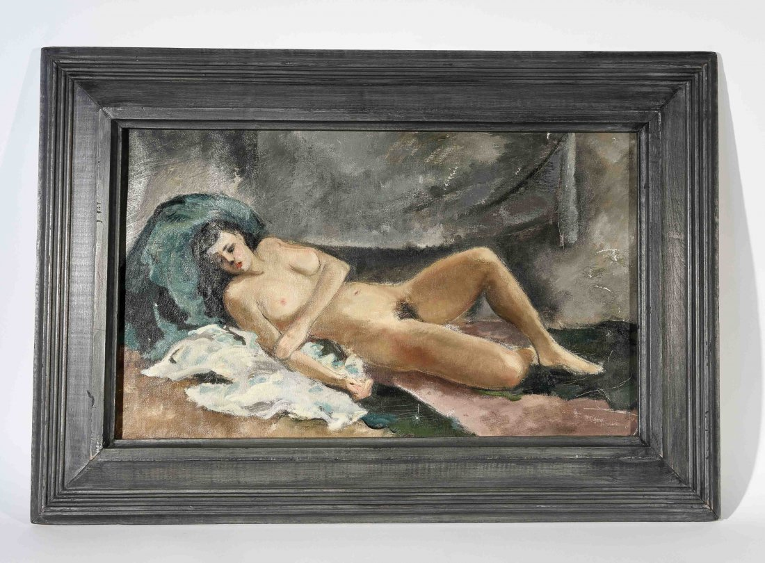 1940S NUDE PORTRAIT O/C PAINTING
