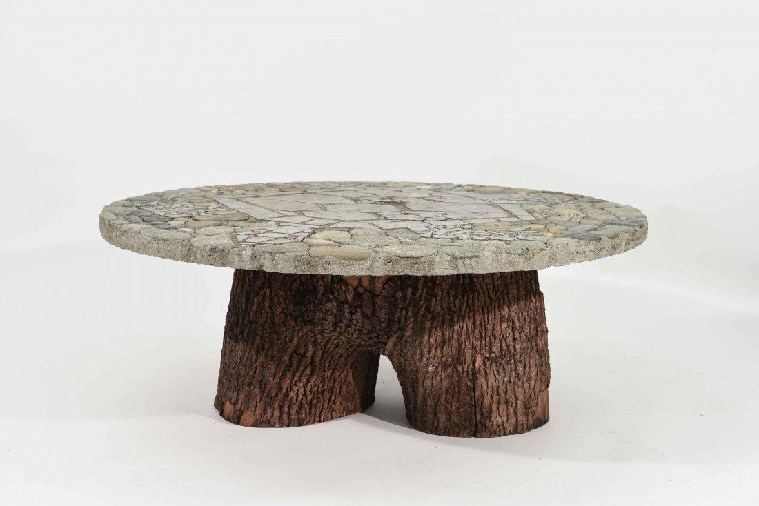 MOSAIC STONE TURTLE COFFEE TABLE