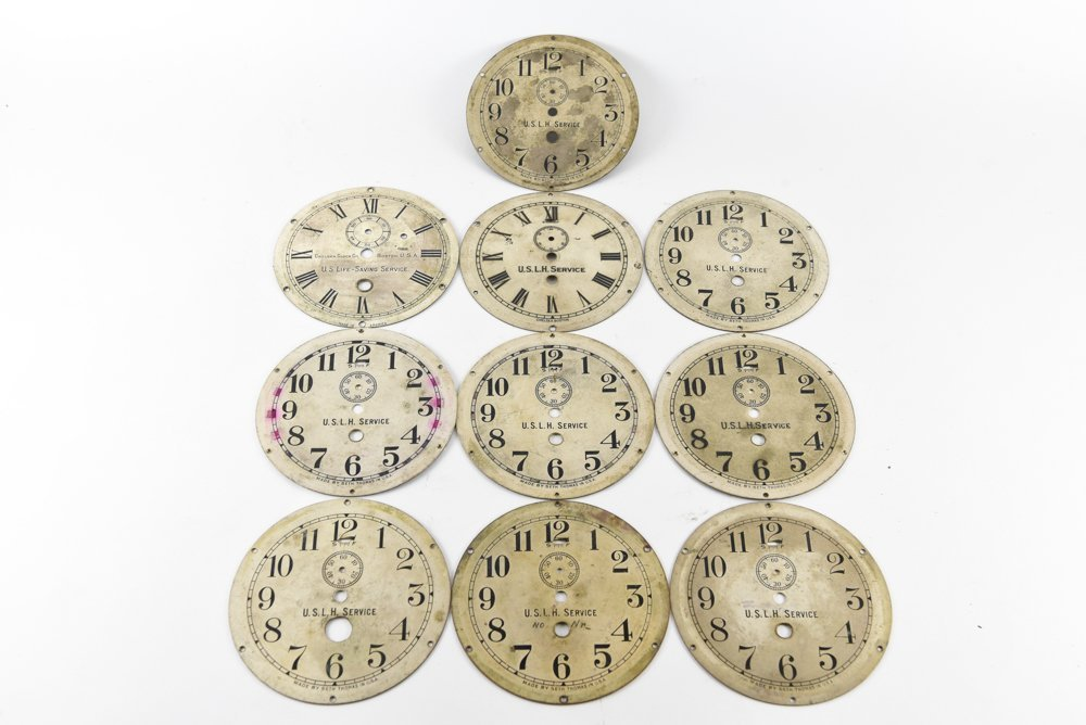 (10) UNITED STATES LIGHT HOUSE SERVICE CLOCK DIALS