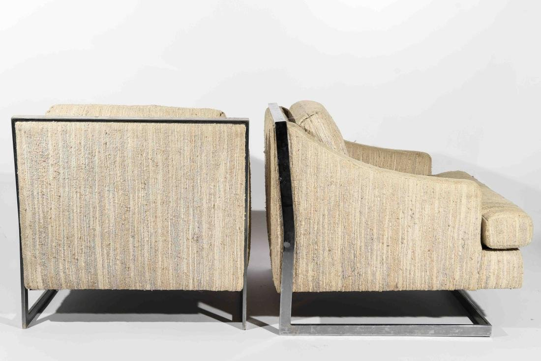 (2) MILO BAUGHMAN STYLE CANTILEVER CHAIRS - 8