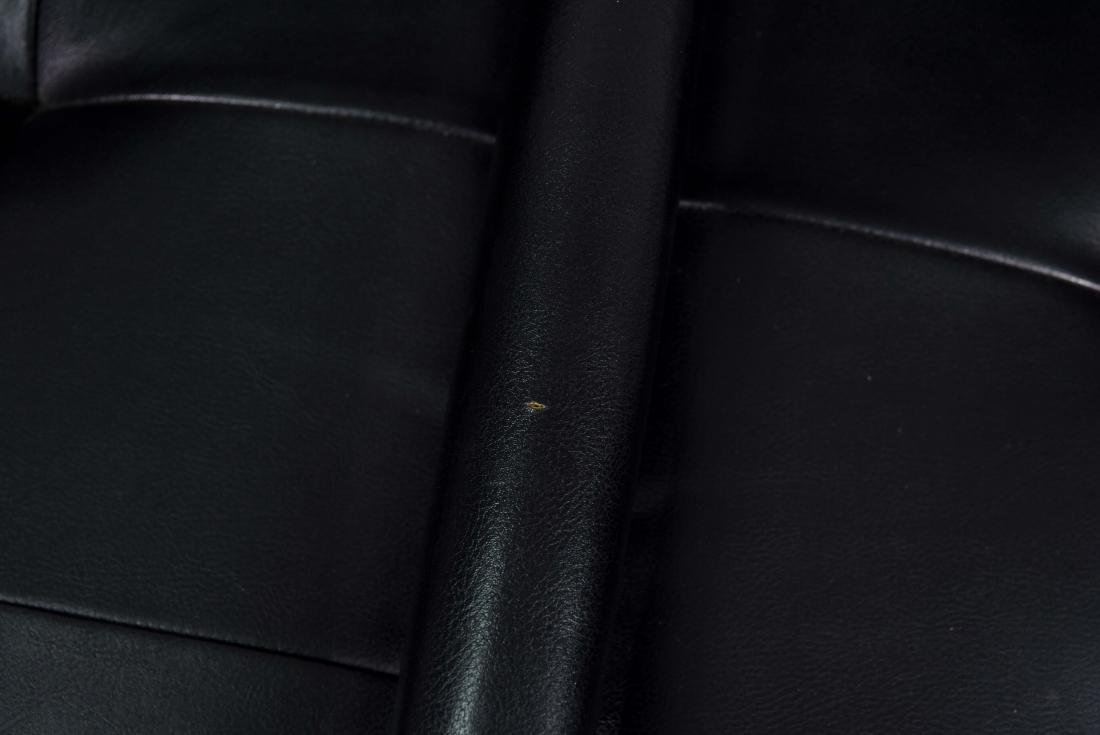 MID-CENTURY PATRICIAN BLACK LEATHER CHAIR - 4