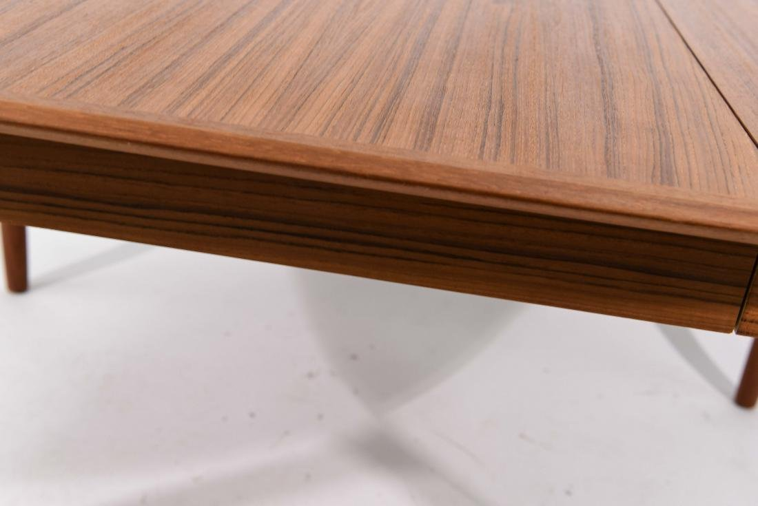 DANISH TEAK DINING TABLE WITH 2 LEAVES - 6