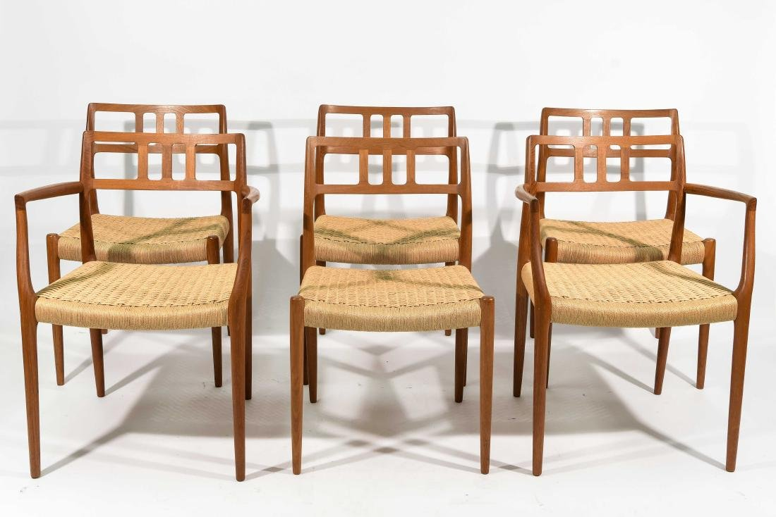 SIX NIELS OTTO MOLLER MODEL 79 CHAIRS