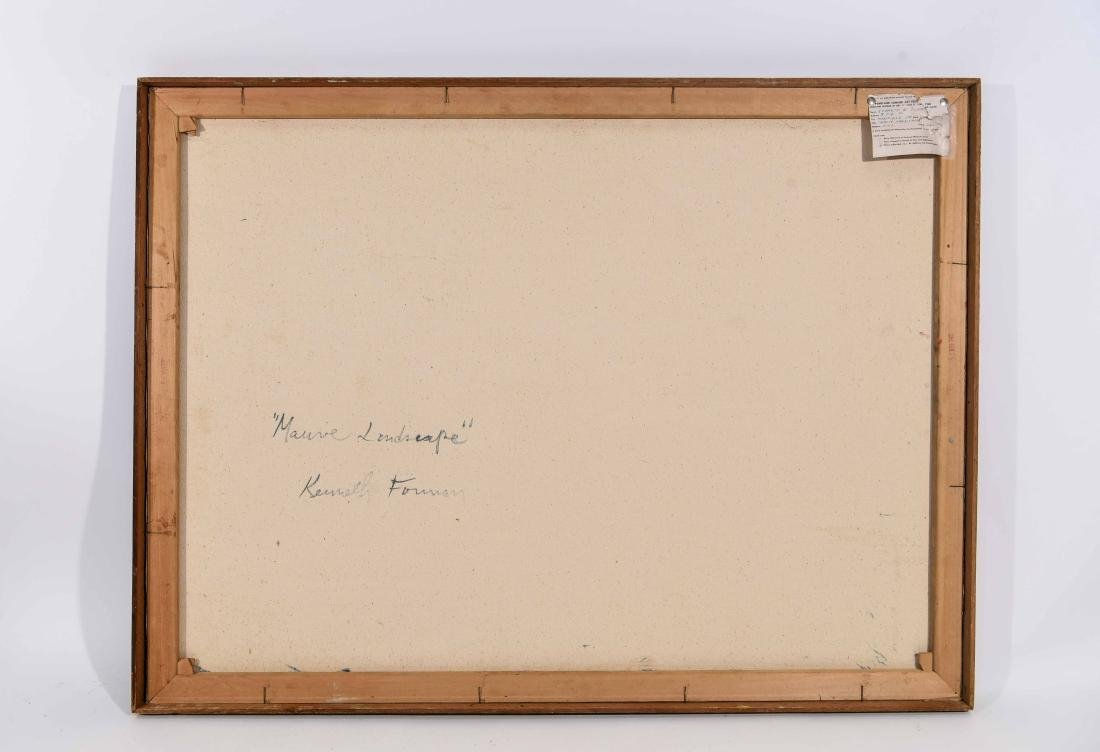 "KENNETH FORMAN ""MAUVE LANDSCAPE"" 1960 O/C - 9"