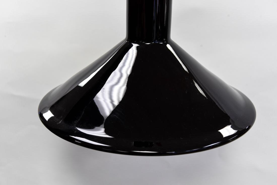 HOLMEGAARD 1960'S BLACK GLASS DANISH PENDANT LAMP - 3