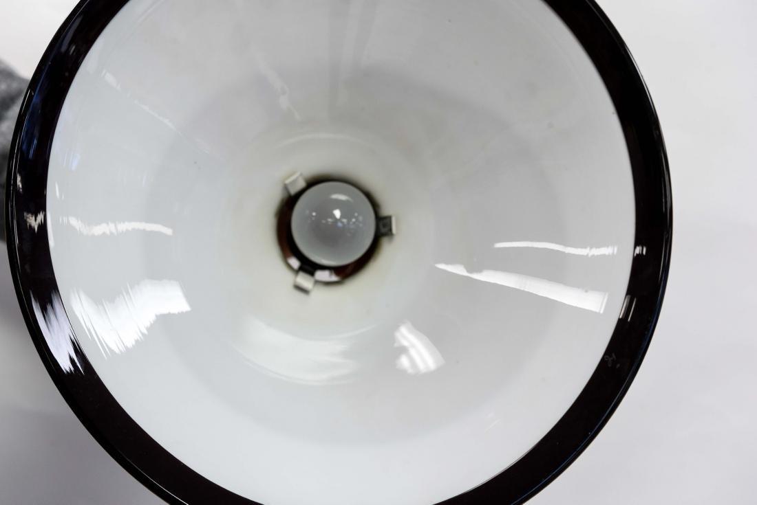HOLMEGAARD 1960'S BLACK GLASS DANISH PENDANT LAMP - 5