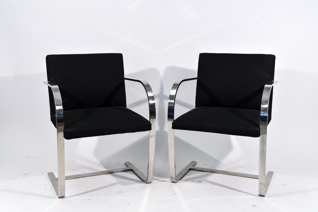 PAIR OF KNOLL BRNO CHAIRS