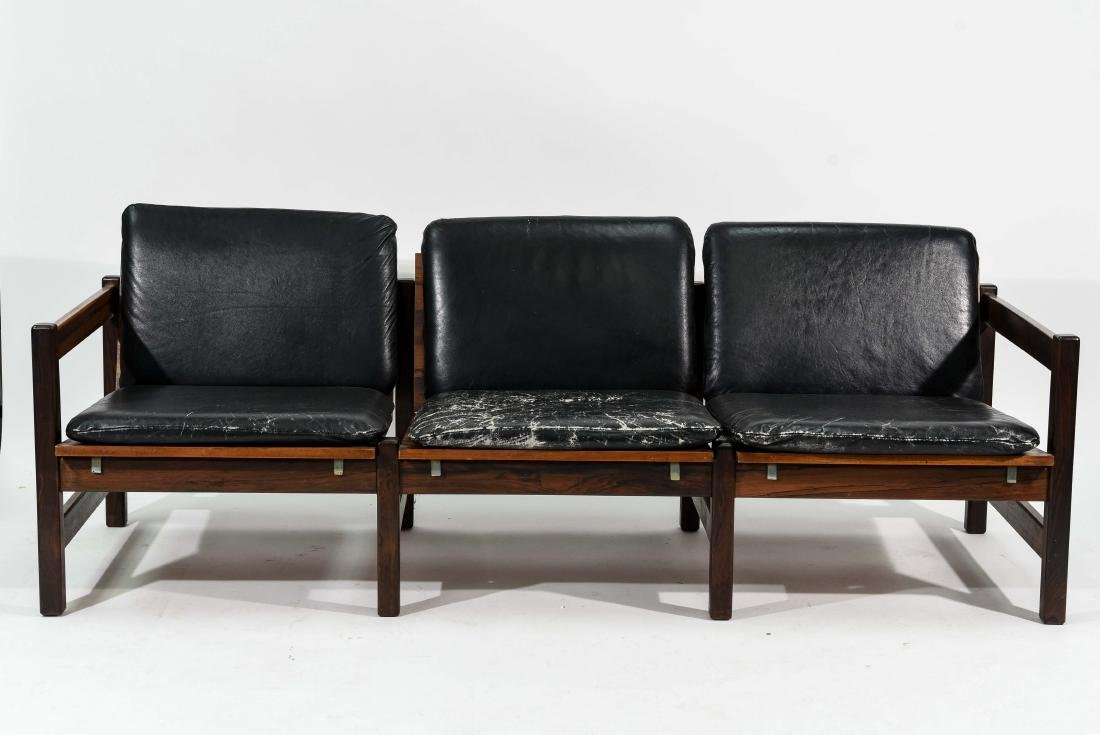 ROSEWOOD & LEATHER SOFA