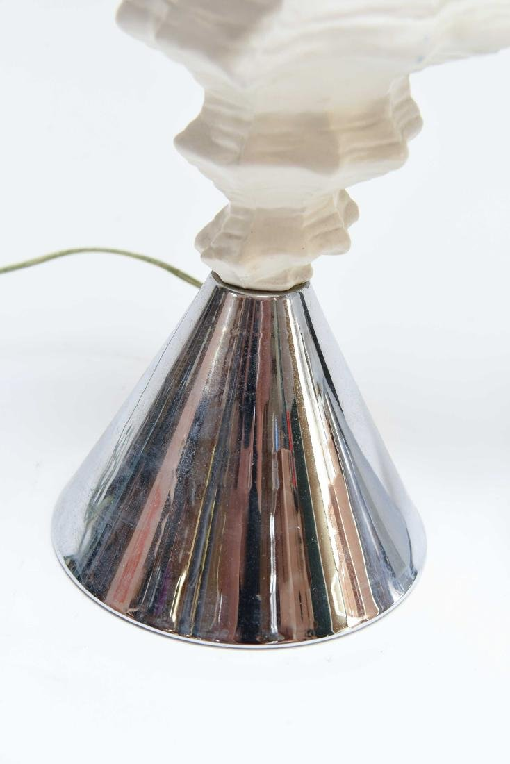 PAIR OF FAUX CONCH SHELL LAMPS - 2