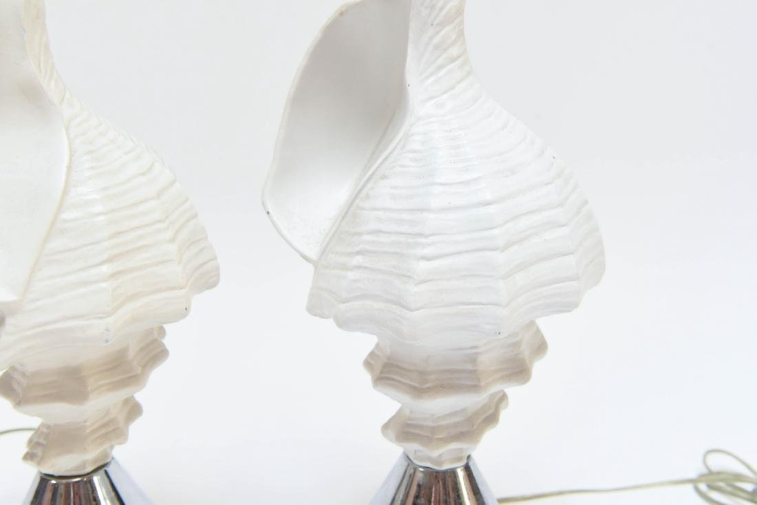PAIR OF FAUX CONCH SHELL LAMPS - 6