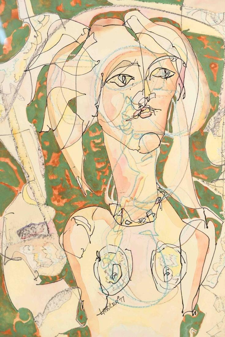 CHARLES KEELING LASSITER (1926-2005) MODERNIST - 2