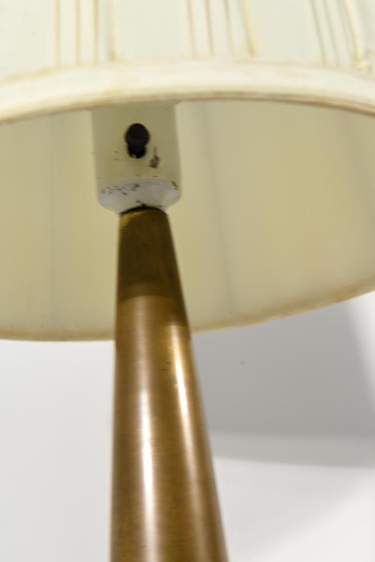 PAIR OF LIGHTOLIER TABLE LAMPS W/ ORIGINAL SHADES - 4