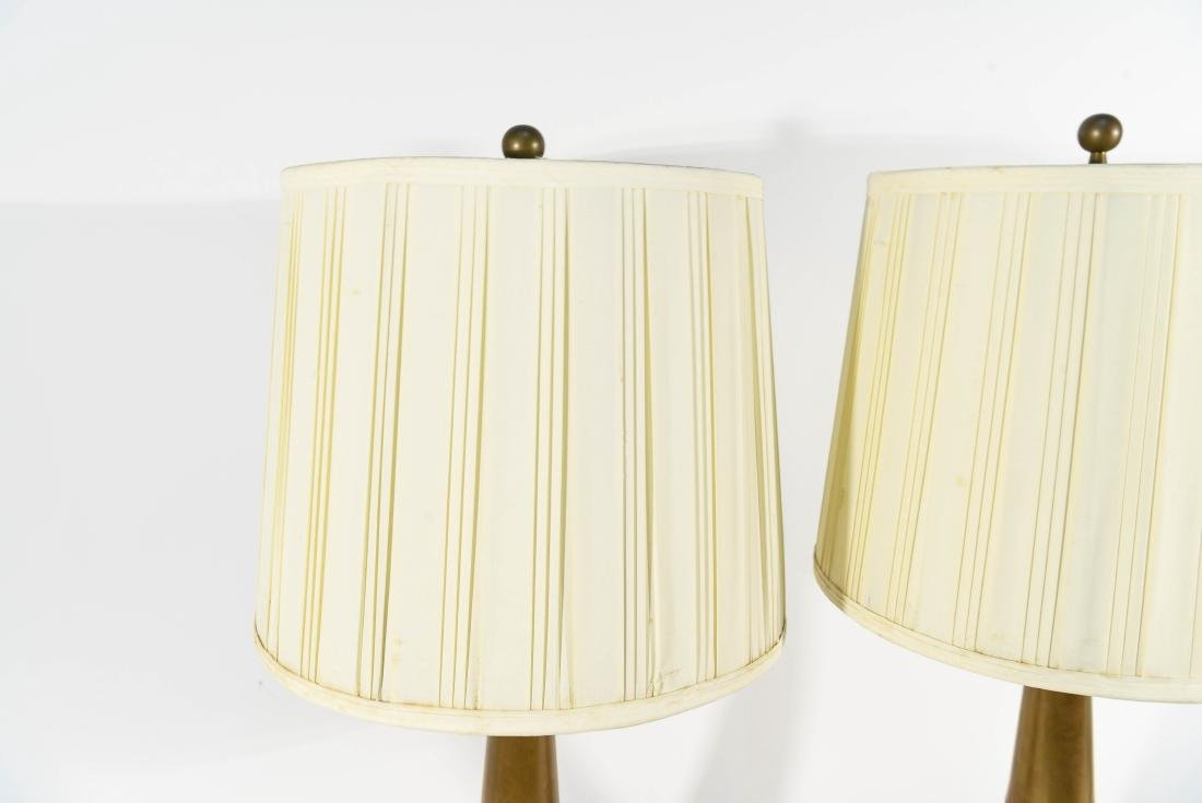 PAIR OF LIGHTOLIER TABLE LAMPS W/ ORIGINAL SHADES - 5