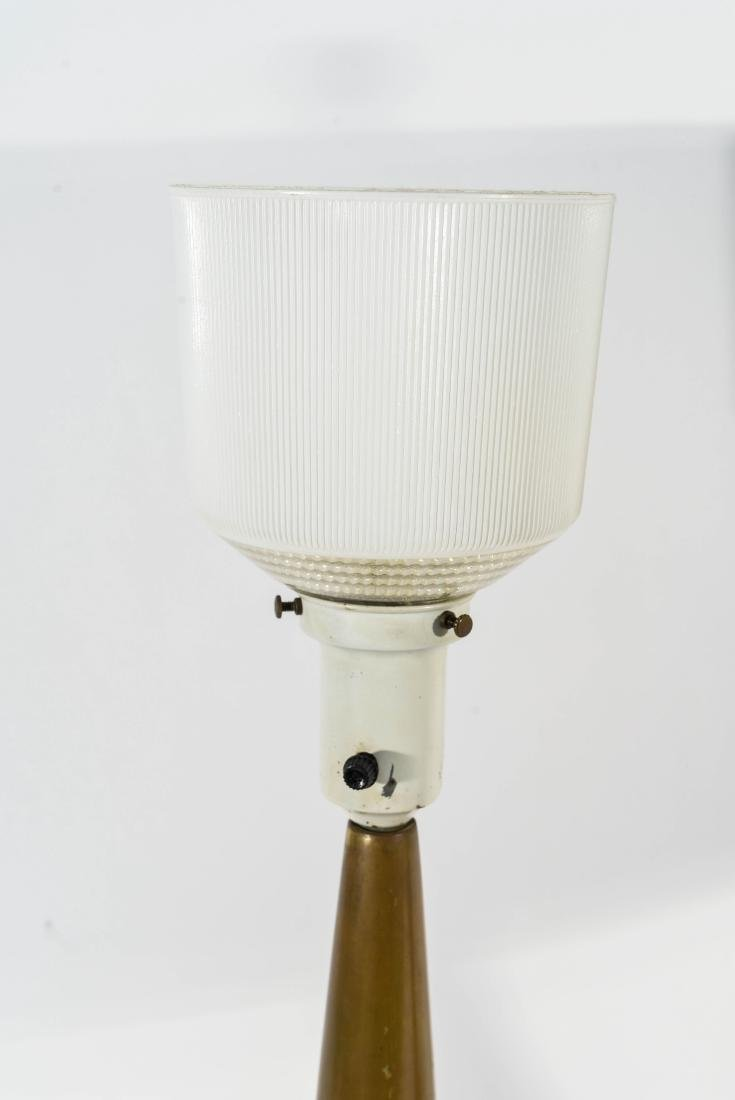 PAIR OF LIGHTOLIER TABLE LAMPS W/ ORIGINAL SHADES - 7