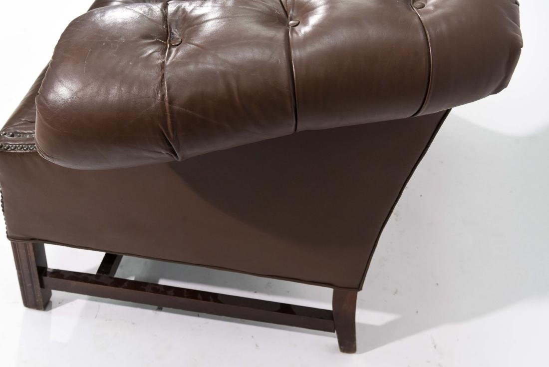 CHESTERFIELD STYLE LEATHER SETTEE - 5