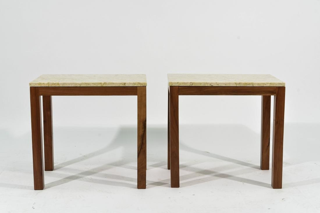 PAIR OF ITALIAN MARBLE TOP END TABLES