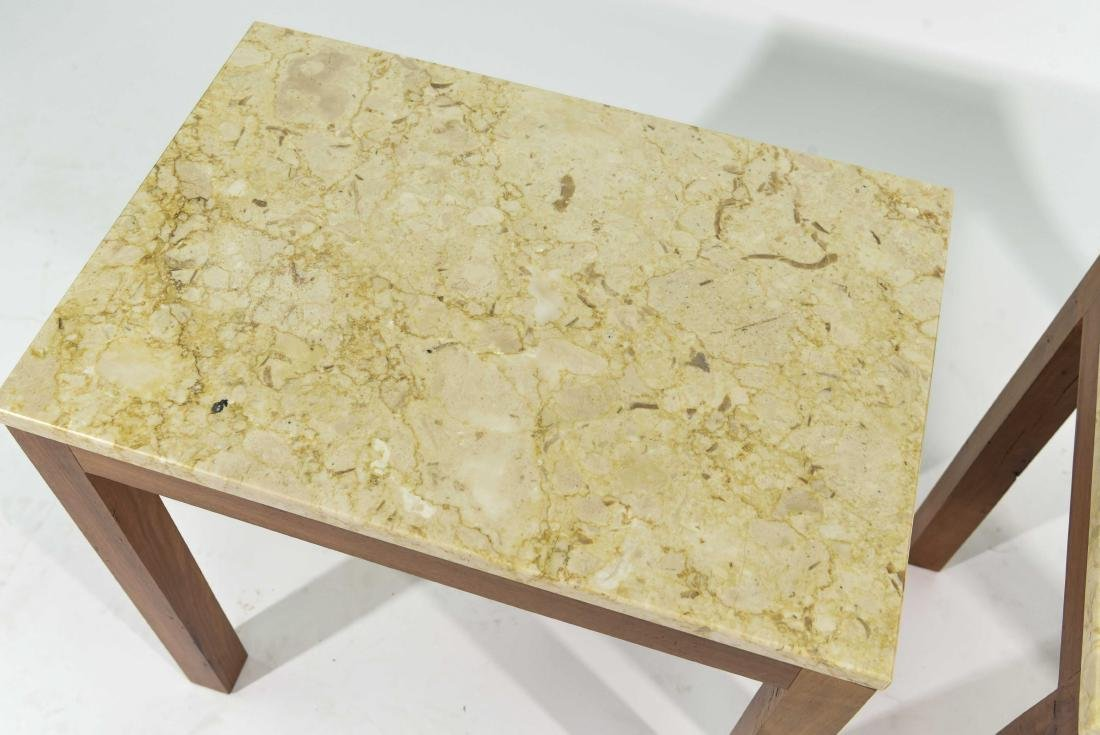 PAIR OF ITALIAN MARBLE TOP END TABLES - 2