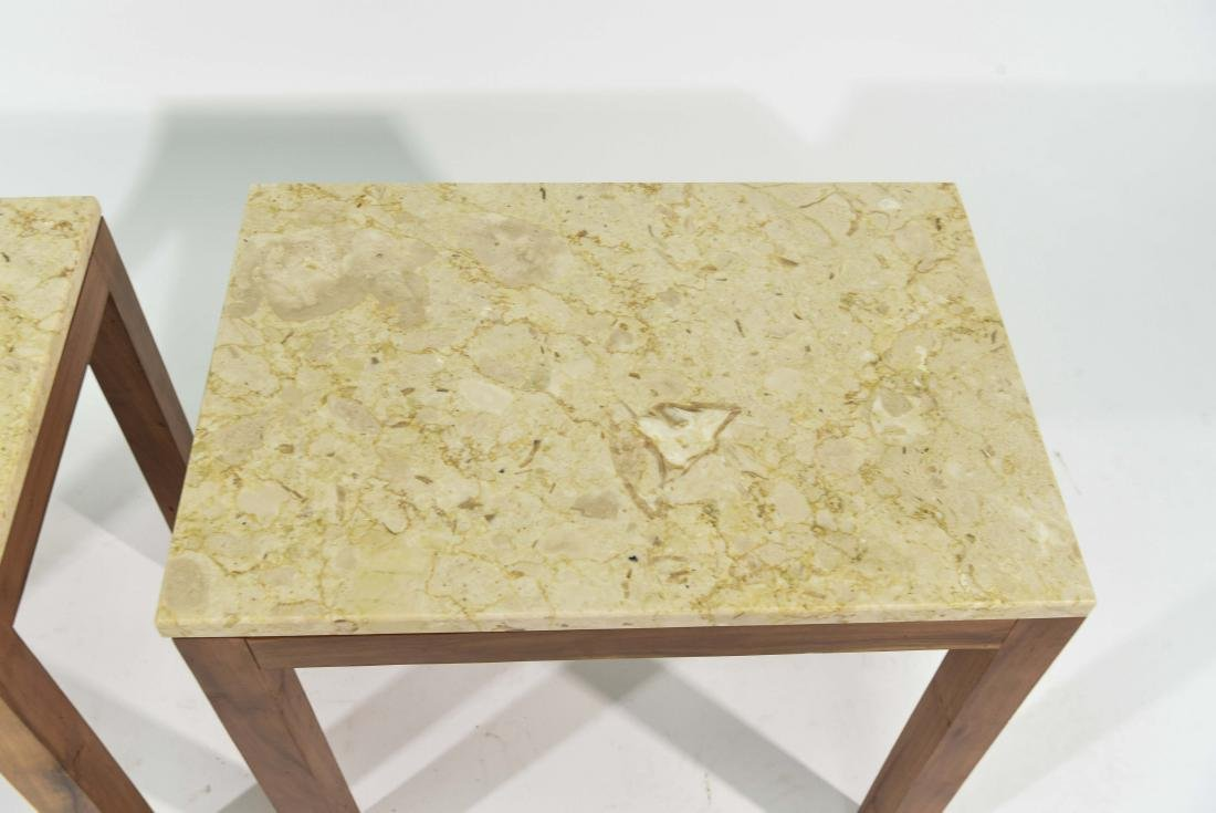PAIR OF ITALIAN MARBLE TOP END TABLES - 3