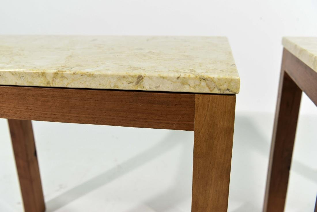PAIR OF ITALIAN MARBLE TOP END TABLES - 4