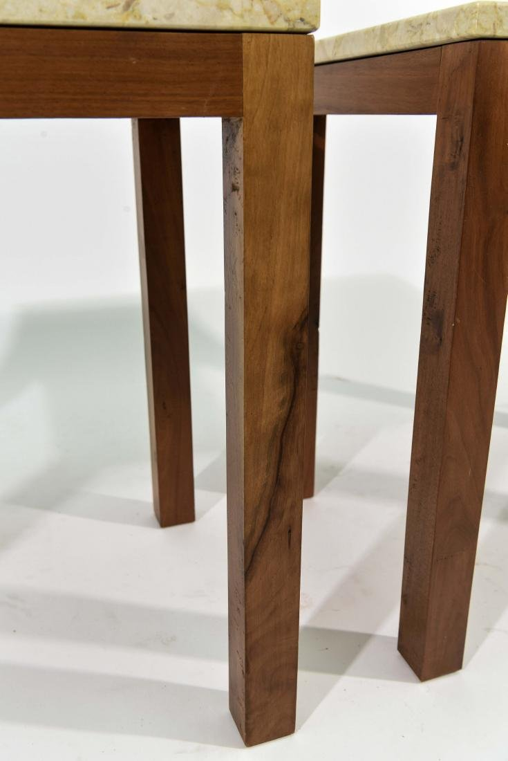 PAIR OF ITALIAN MARBLE TOP END TABLES - 5
