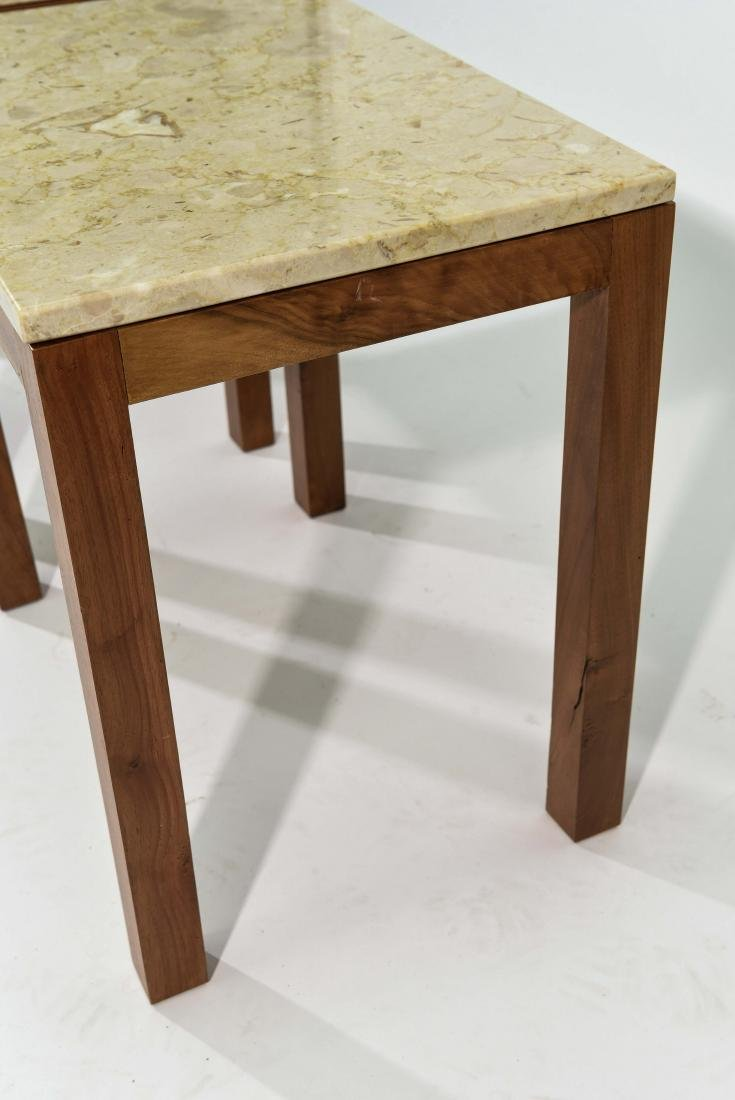 PAIR OF ITALIAN MARBLE TOP END TABLES - 7