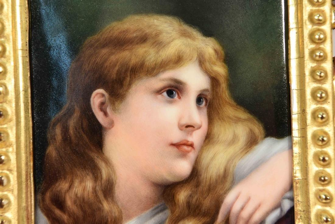 K.P.M PLAQUE PORTRAIT OF A YOUNG GIRL - 3