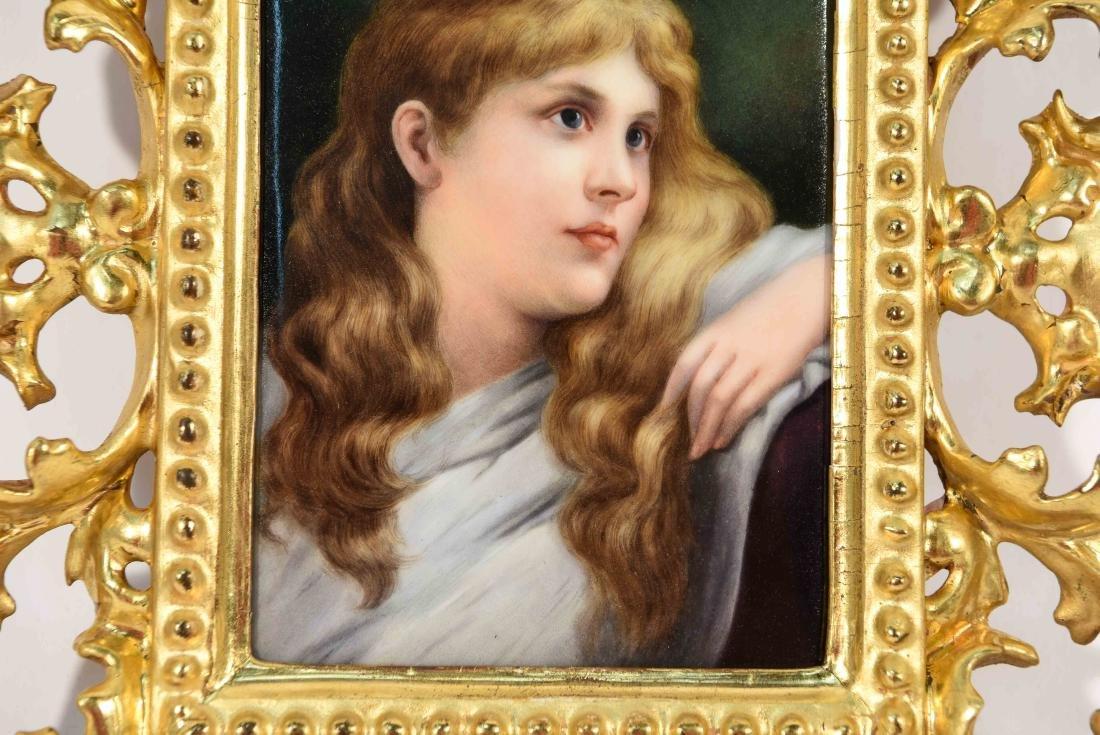 K.P.M PLAQUE PORTRAIT OF A YOUNG GIRL - 4