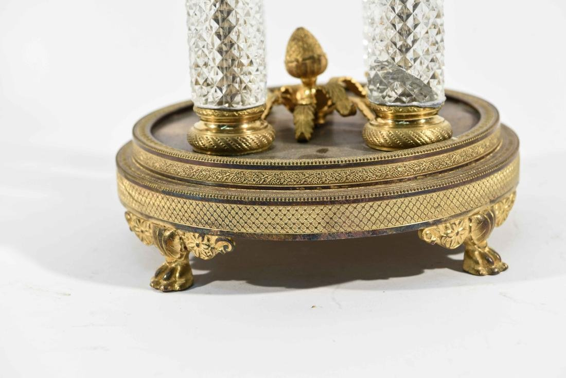 BRONZE & CRYSTAL TAZZA W/ BACCARAT BOWL - 2