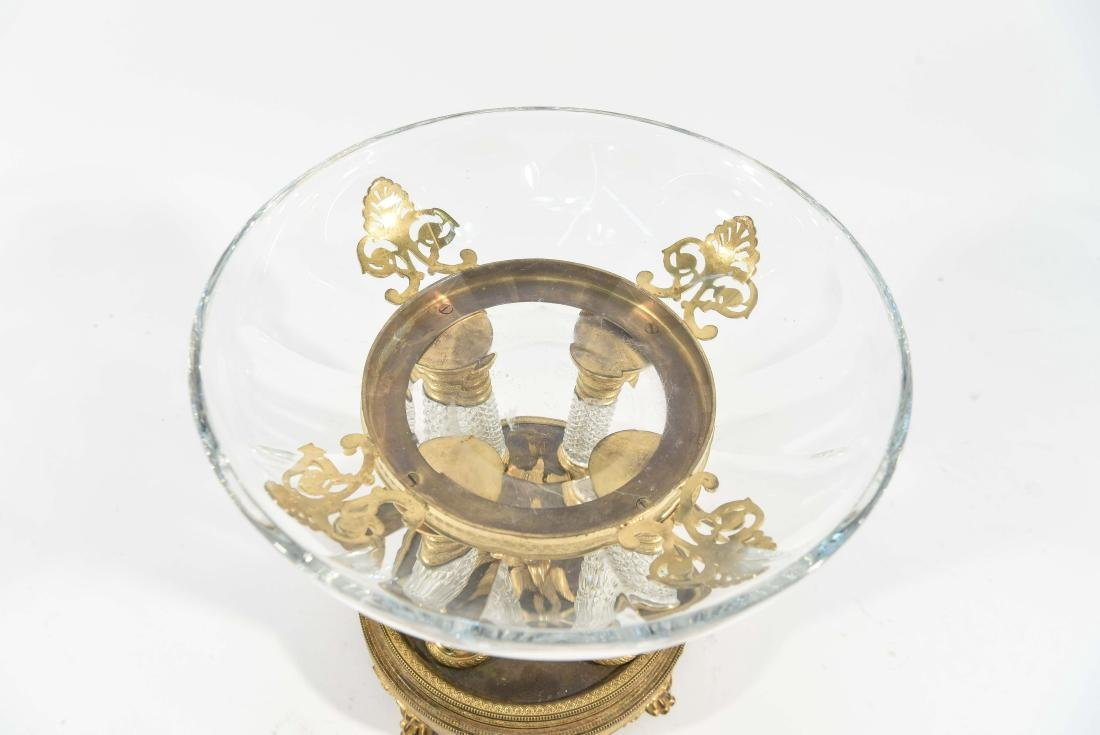 BRONZE & CRYSTAL TAZZA W/ BACCARAT BOWL - 5