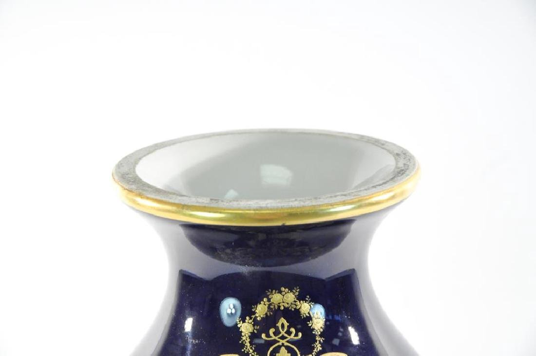 LATE 19TH C. HAND PAINTED LIMOGES URN - 2