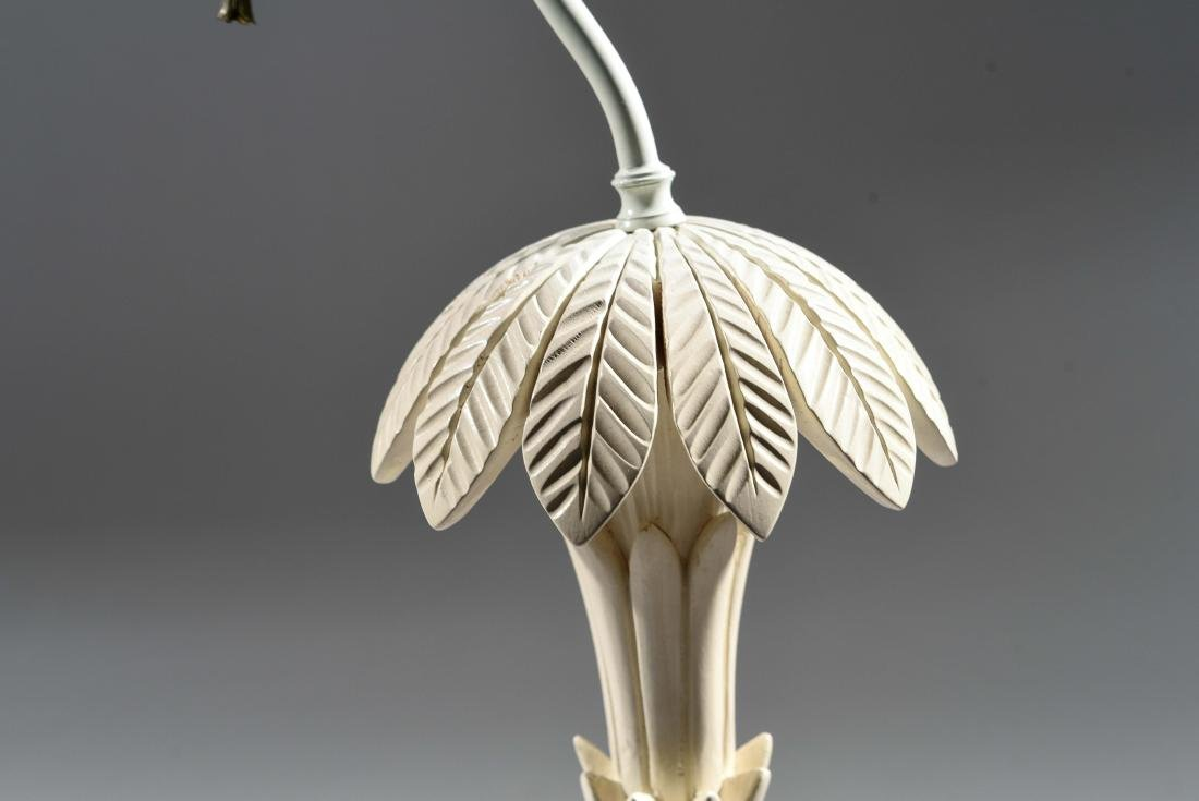 MID-CENTURY ASIAN STYLE CARVED WOOD LAMP - 7