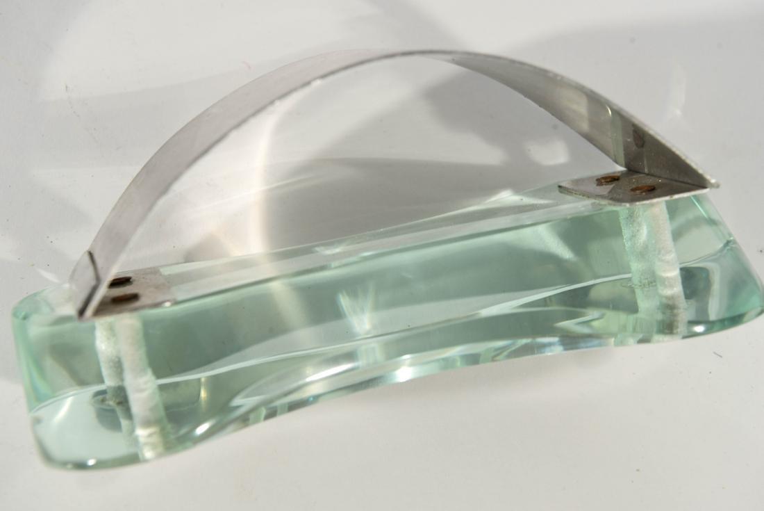 THREE PIECE MODERNIST GLASS DESK SET - 6