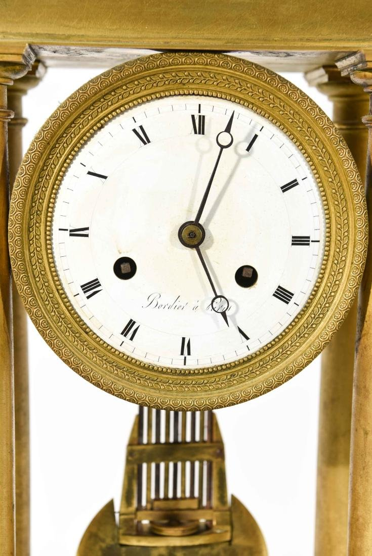 FRENCH EMPIRE BRONZE MANTLE CLOCK - 2