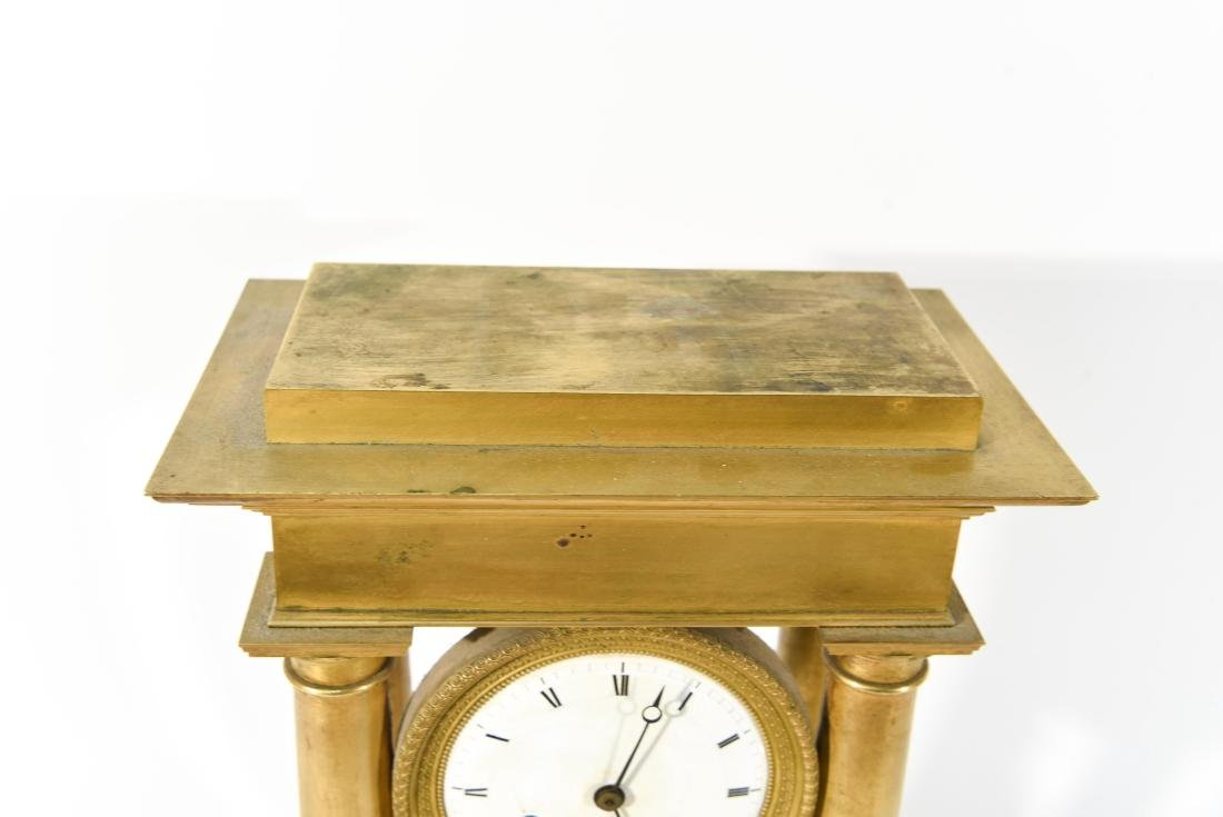 FRENCH EMPIRE BRONZE MANTLE CLOCK - 5