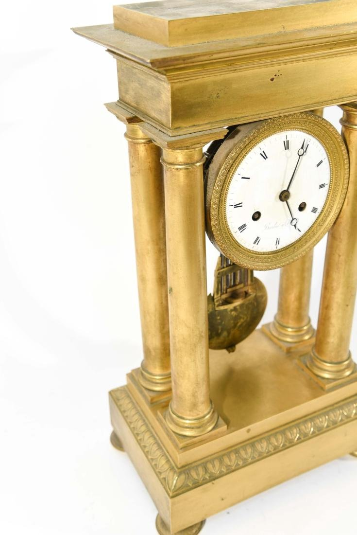 FRENCH EMPIRE BRONZE MANTLE CLOCK - 6
