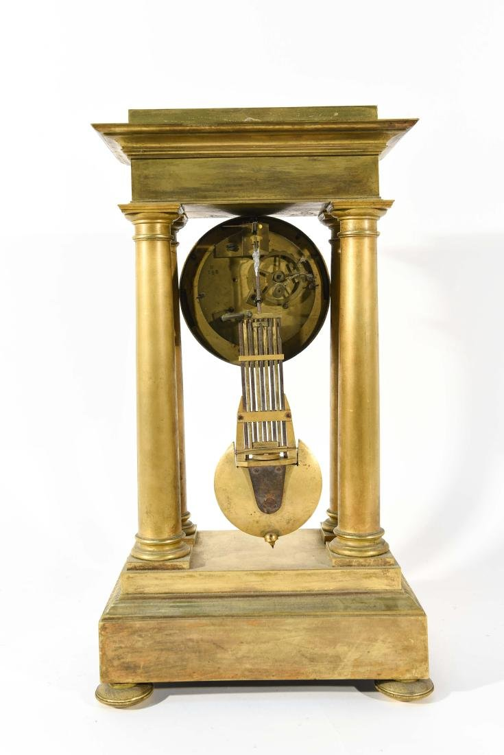 FRENCH EMPIRE BRONZE MANTLE CLOCK - 7