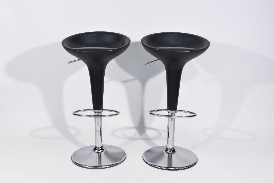 PAIR OF CHROME MAGIS BAR STOOLS