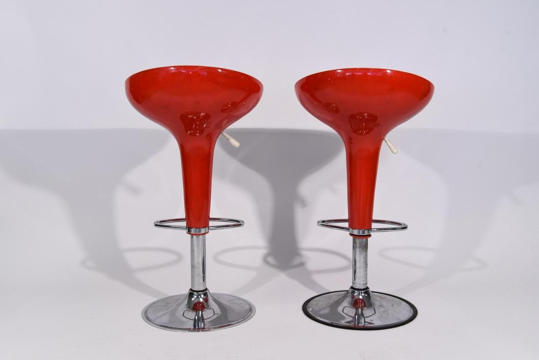 PAIR OF RED MAGIS STYLE BAR STOOLS - 9