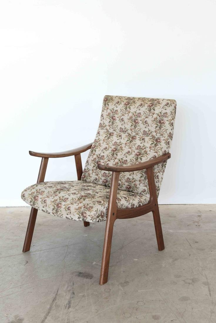 DANISH MID-CENTURY HIGH BACK EASY CHAIR